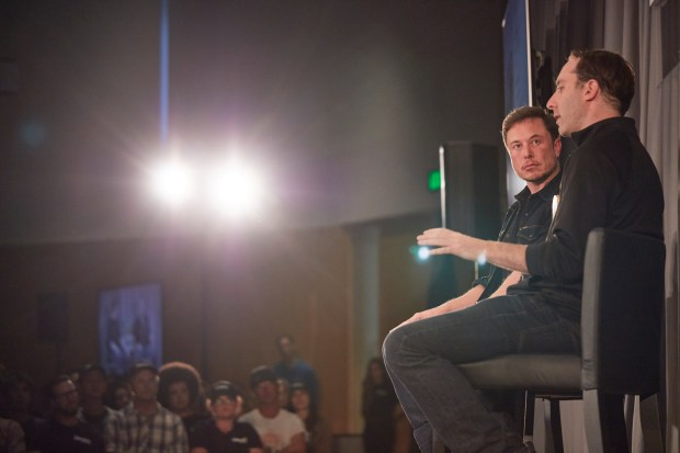 Elon Musk and Steve Davis of the Boring Co. took their transit concepts to a live audience of Los Angeles residents Thursday. (Photo: The Boring Co.)
