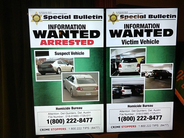 Sheriff's officials are looking for witnesses who may have seen the suspect's vehicle, a 2008 gold Chevy Malibu, on May 3 from 9:30 a.m. to 12:30 p.m. at the Promenade on the Peninsula mall in Rolling Hills Estates. (Valerie Osier/ SCNG)