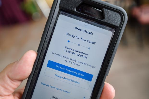 iPhone screen shot of Disneyland Resort's new Mobile Order service in Anaheim, CA, on Tuesday, May 22, 2018. Visitors to the resort can order food on their smartphone, choose a pick up time and go right to the counter to get their order. (Photo by Jeff Gritchen, Orange County Register/SCNG)