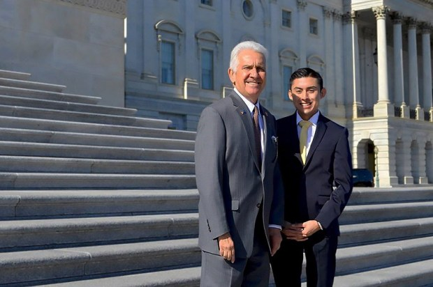 Carlos Juarez interned for Rep. Jim Costa of Fresno during the fall semester as a Panetta Scholar. (Photo courtesy of Cal State Fullerton)