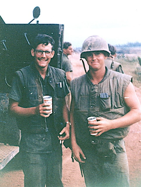 Rick King, left, during his service in 1967. (Photo Courtesy Rick King)