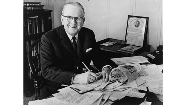 Norman Vincent Peale (Photo by Roger Higgins/New York World-Telegram and Sun Collection at the Library of Congress)