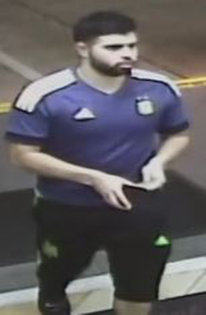 Anaheim police suspect this man was involved in a hit-and-run incident at La Palma Avenue and East Street on Tuesday, May 2. (Image courtesy of Anaheim Police Department)