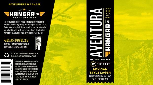 Aventura's label evokes a flight to Baja California.