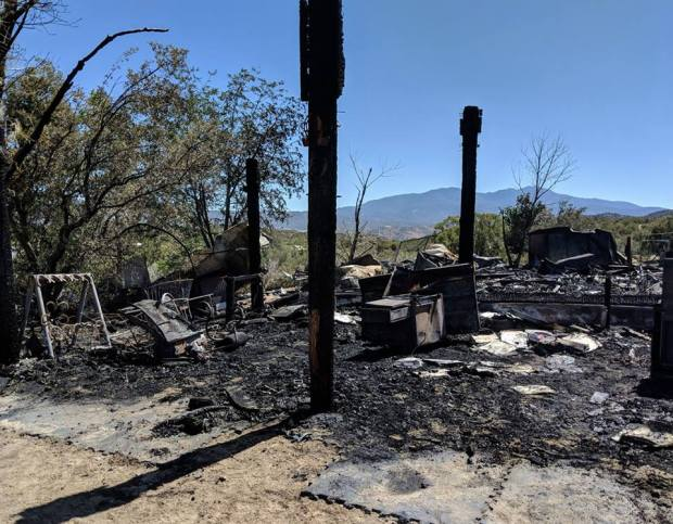 A fire at an Anza horse rescue destroyed the home of its founder early Sunday morning. (Courtesy The Golden Carrot)