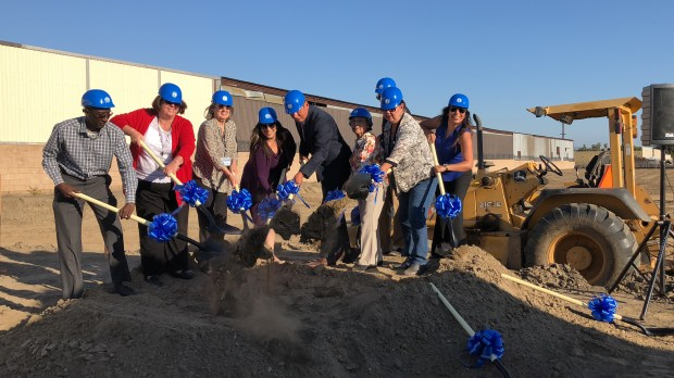 Pomona officials hold a groundbreaking ceremony Tuesday, May 15, for its Homeless Services Center.