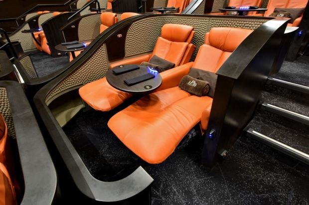 iPic's patent pending Premium Plus Pod, now available at its Pasadena theater.