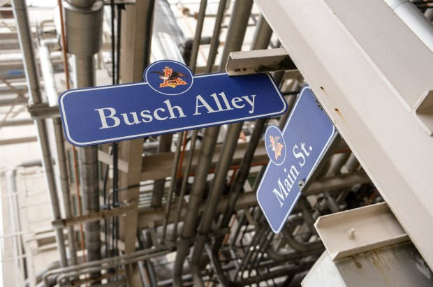 Many streets have beer names at Anheuser-Busch in Van Nuys. For the first time in almost 40 years, the brewery will open its doors to the public for a select number of tours this summer. Contact budweisertours.com to details. (Photo by David Crane, Los Angeles Daily News/SCNG)