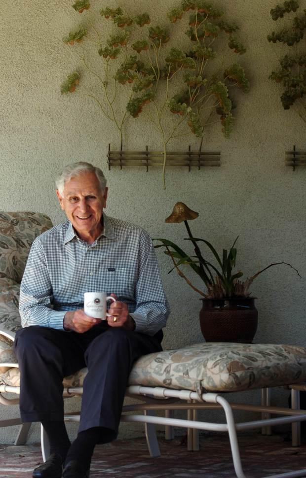 Former governor George Deukmejian spends time at his Long Beach home in the July 2, 2011 file photo. Photo by Brittany Murray / Staff Photographer