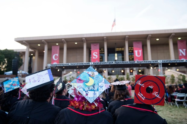 Commencement ceremonies at California State University Northridge in Northridge, Friday, May 18, 2018. (Photo by Hans Gutknecht, Los Angeles Daily News/SCNG)