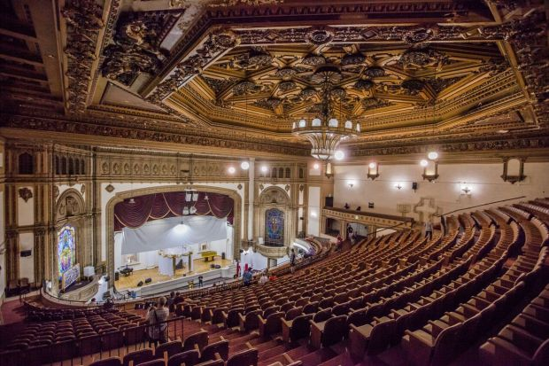 For the first time in about two decades the State Theatre in downtown Los Angeles will be open to the public for films as part of the Las Remaining Seats series. Photo courtesy Los Angeles Conservancy.