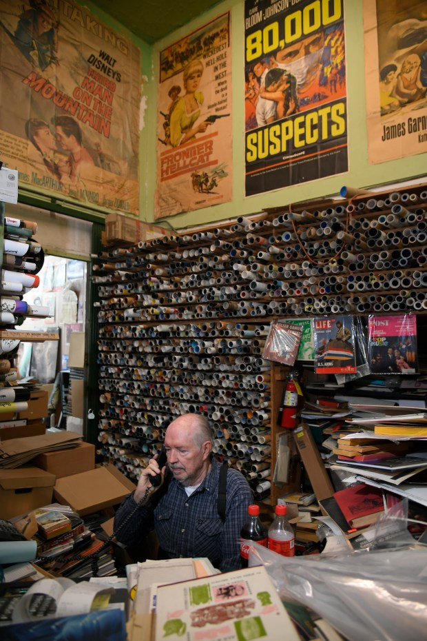 The Book Castle-Movie World bookstore on the old Golden Mall in Burbank will soon close its doors forever. The owner, Steve Edrington, has been in business for 51 years and just says it's time. Burbank, CA 5/2/2018 (Photo by John McCoy)