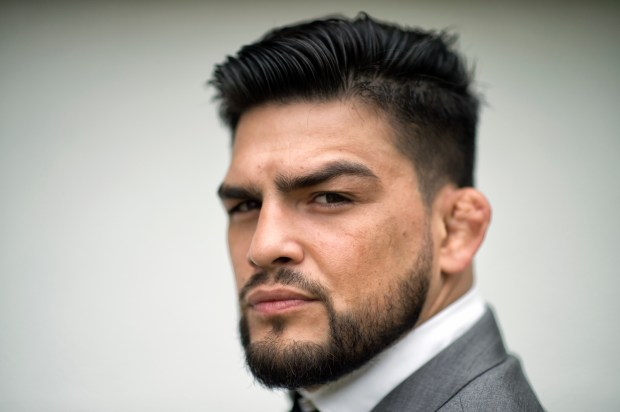 No. 5 middleweight Kelvin Gastelum, who lives in Huntington Beach, will fight No. 2 Ronaldo 'Jacare' Souza on Saturday at UFC 224 in Rio de Janeiro. (Hans Gutknecht/SCNG)