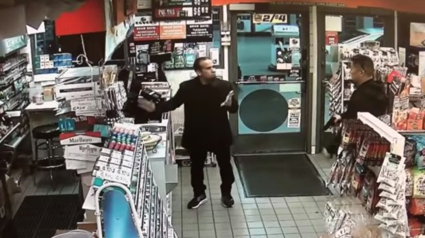 A store security video of the encounter between Jose Arreola and an off-duty Buena Park police officer generated nationwide alarm after it was first published Friday by the Southern California News Group. (Courtesy photo from video)