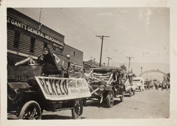 A parade was part of the first Cherry Festival in Beaumont in 1919. (Photo courtesy Beaumont Cherry Festival Association)