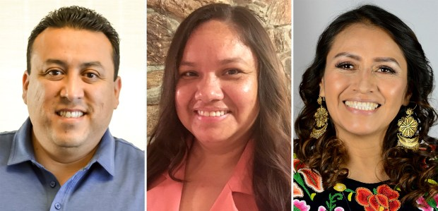 Candidates for the San Bernardino city council's 2nd ward are, from the left; Ward 2 incumbent Councilman Benito Barrios, Sandra Ibarra and Cecilia Miranda-Dolan. (Courtesy photos)