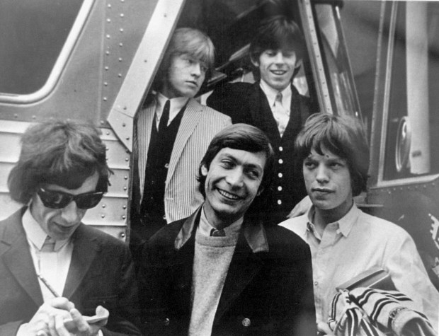 ORG XMIT: PE1250327A.jpg (3/27/027, studio, PE125) copy photo of The Rolling Stones arriving at the Swing Auditorium in San Bernardino, Spring 1964, for their first American concert. (photo by Fred Bauman, The Press-Enterprise)