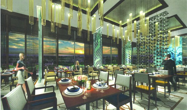 A rendering of the proposed new Hotel Legado depicts the newly remodelled lobby.