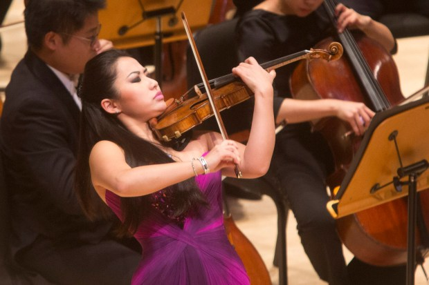 Violinist Sarah Chang will perform at the Musco Center for the Arts on Nov. 18. (File photo by Drew A. Kelley, contributing photographer)