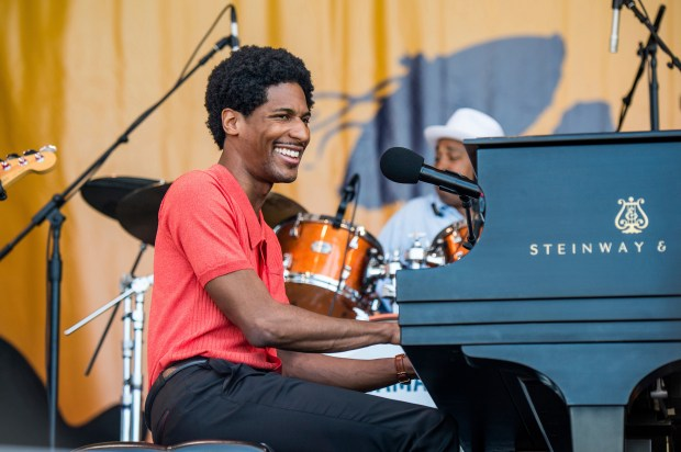 "Jon Batiste, leader of Stay Human, the house band on ""The Late Show with Stephen Colbert,"" will kick off the Musco Center's 2018-19 season on Sept. 21. (Photo by Amy Harris, Invision/AP)"