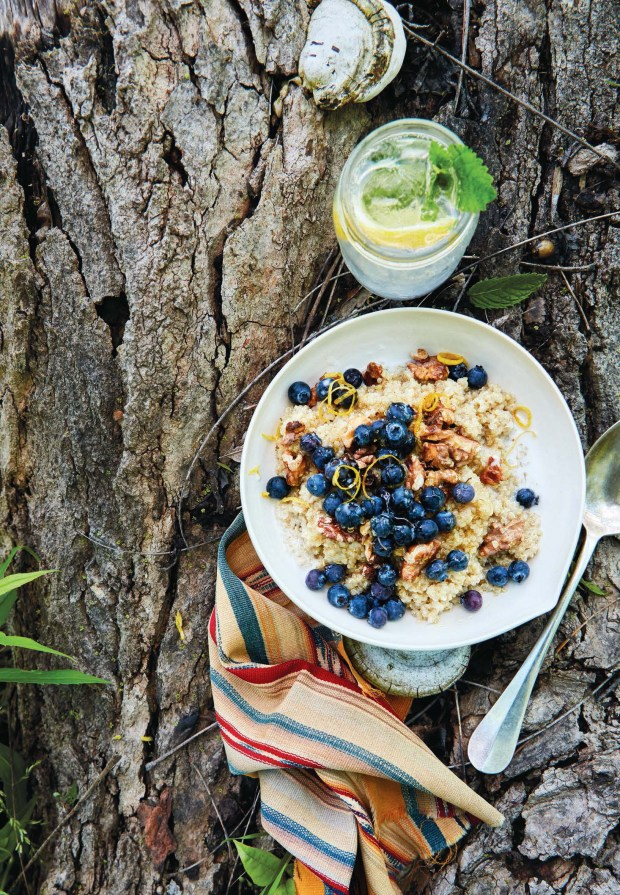 Coconut-Quinoa Breakfast Bowls is a delicious protein-rich way to start the day in the great outdoors. (Photo by Christina Holmes)