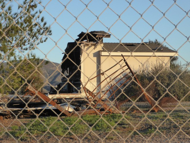 The remains of the Renee Jennex Small Family Home near Temecula stand in this 2017 photo. Home administrator James Jennex killed four developmentally disabled people with gunshots and fire and then himself on Aug. 29, 2016. (Brian Rokos, The Press-Enterprise/SCNG)
