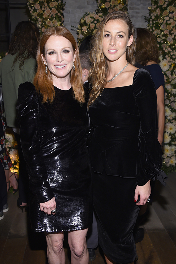 John Hardy brand ambassador Julianne Moore pictured with the brand's creative director Hollie Bonneville Barden