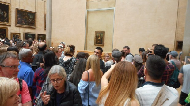 The line to see the Mona Lisa at the Louvre (Photo by Trevor Summons)
