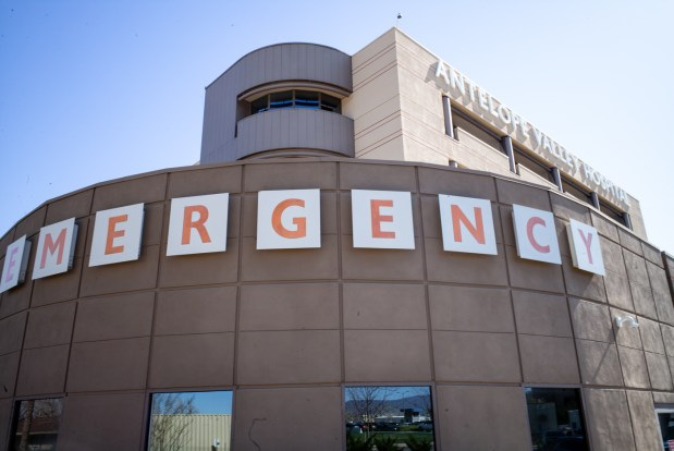 Emergency Services at the Antelope Valley Hospital. (Photo by David Crane, Los Angeles Daily News/SCNG)