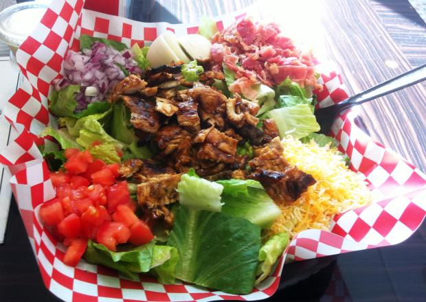 A twist on the traditional Cobb Salad is the Barbecue Cobb Salad, with chicken breast (shown here), barbecued brisket or pulled pork. (File photo)