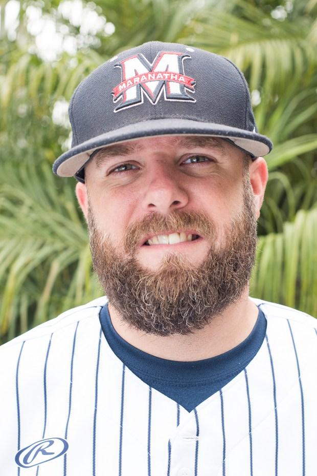 Maranatha baseball coach Matt Shupper at Maranatha High School in Pasadena on Thursday, June 6, 2018. (Photo by Nick Agro, Contributing Photographer)