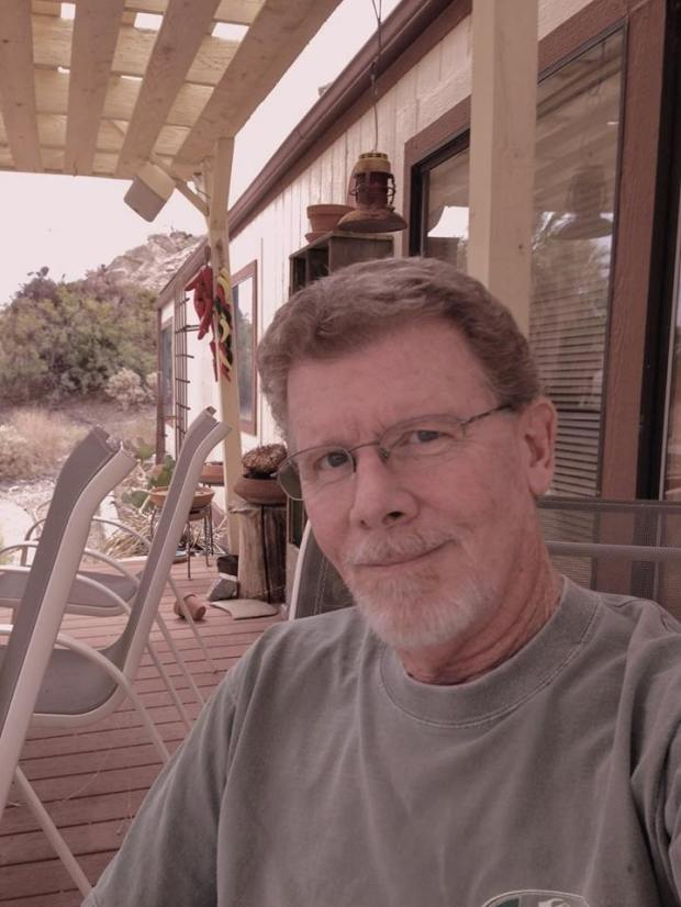 Robert Fulton, 63, was site manager for the Desert Studies Center near the San Bernardino County town of Zzyzx in the Mojave National Preserve and a former Cal State Fullerton student. Fulton's body was found outside a car that crashed off Highway 243 near Idyllwild on June 25, 2018. (Courtesy photo)