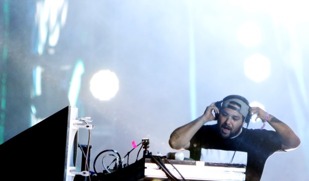 Deorro, shown here performing at the 2018 Coachella Valley Music and Arts Festival on Friday, April 20, 2018 in Indio, will be at Nocturnal Wonderland in Devore in September. (File photo by Micah Escamilla)