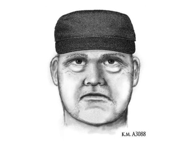 This image released by the Phoenix Police Department shows a sketch of the suspect in the first of three shooting deaths in Phoenix. It shows a white man wearing a dark hat. The shooting death of a prominent forensic psychiatrist, Dr. Steven Pitt, who assisted in high-profile murder cases including serial killings in Phoenix is connected to the killings of two paralegals, said authorities, who were investigating Saturday, June 2, 2018, whether a fourth homicide was also related. (Phoenix Police Department via AP)