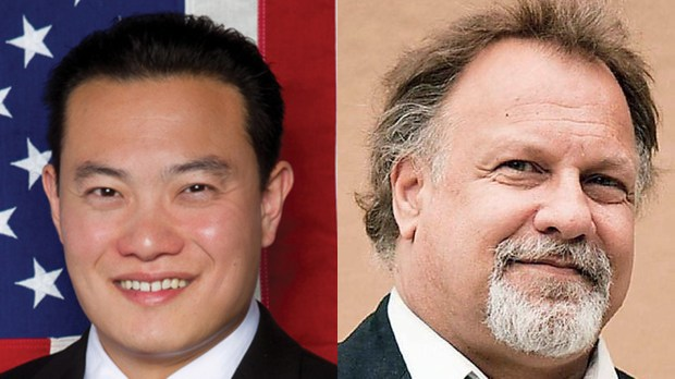 California Assemblyman Phillip Chen, left, a Republican, will be challenged next November for his seat in District 55 by Gregg Fritchle, a social worker from Walnut.
