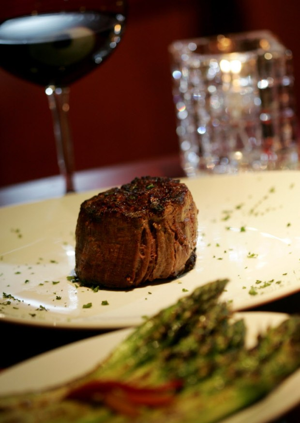 Petite fillet mignon at Fleming's Prime Steakhouse. (Stan Lim, staff)