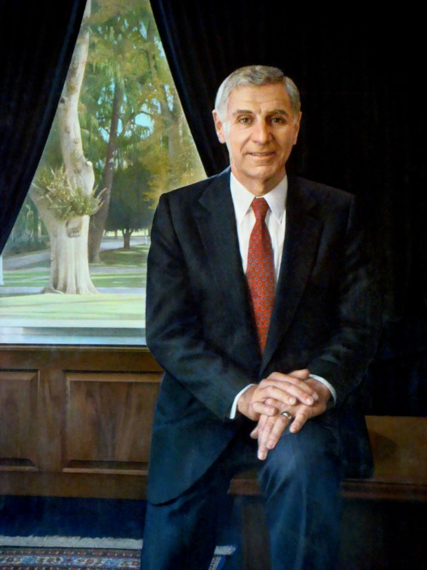 Official governor's portrait of Gov. George Deukmejian.