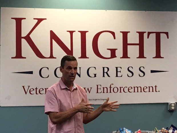 Questions about Trump, Pelosi are tricky for House candidates Knight, Hill