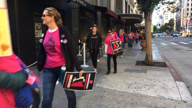 Crowds roll in for third annual Women's March in downtown Los Angeles