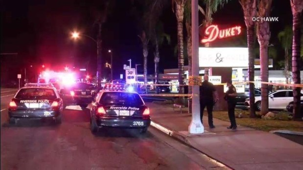Man stabs, shoots at 2 bouncers at Duke's in Riverside