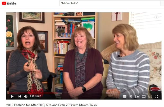 """Getting older with style (and laughter): Meet the team from Santa Clarita's """"Ma'am Talks"""" You Tube channel"""