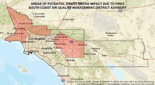Saddleridge fire, Riverside County blazes are polluting the air. Here's what you can do to protect yourself