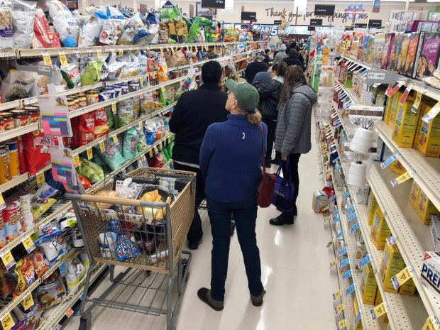 Next at the grocery store: Single lines, cashierless tech, more delivery
