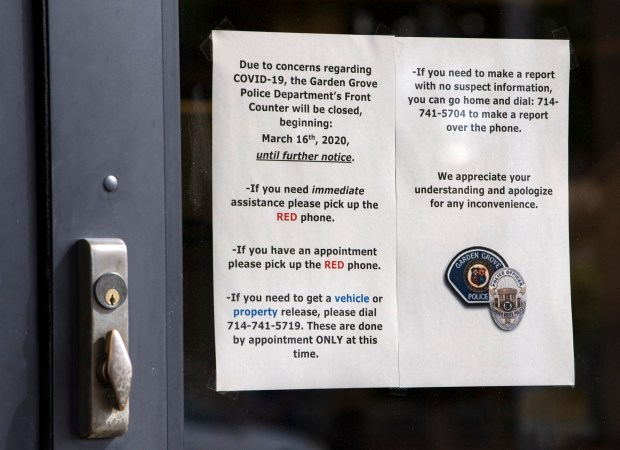 Coronavirus leads some Southern California police stations to close doors to public