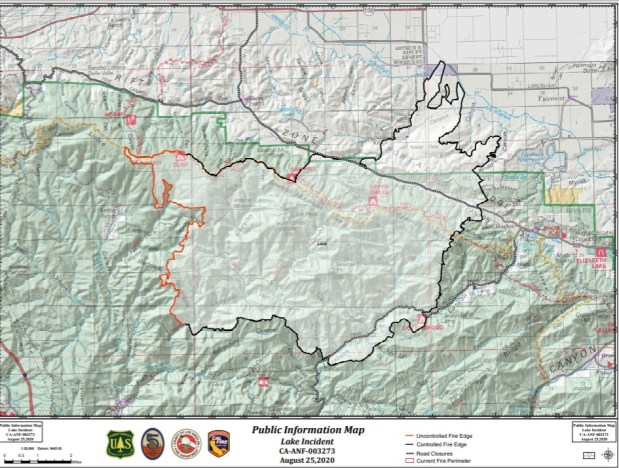 Lake fire is 65% percent contained but won't reach 100% until Sept. 12