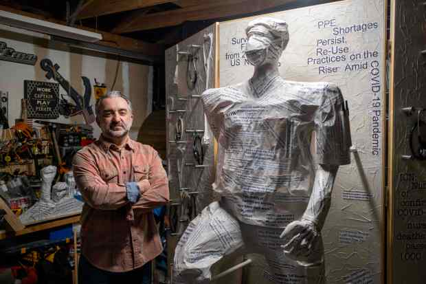 Artist turns anger into inspiration for project for healthcare professionals