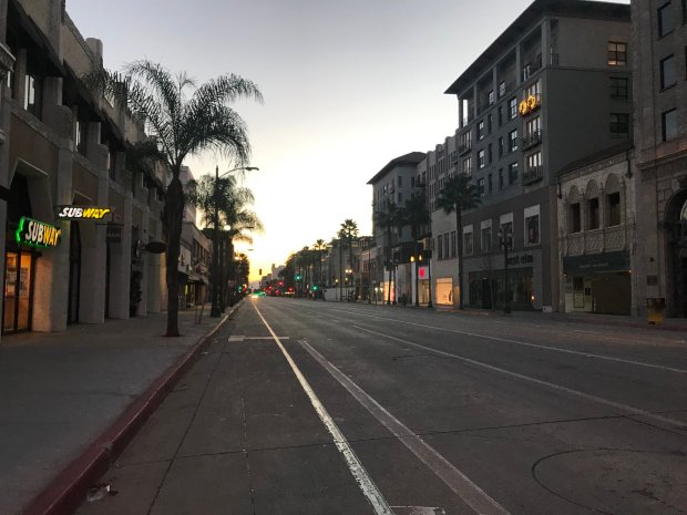 No roses or floats or bands on Pasadena's Colorado Boulevard this morning – but there's hope