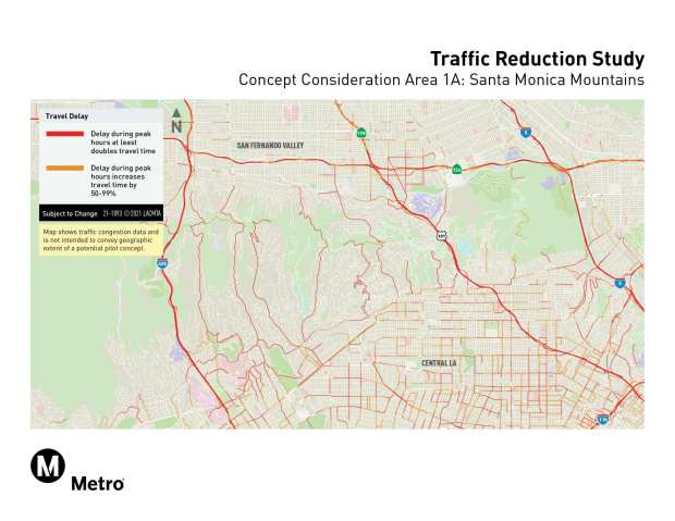 Metro congestion pricing sites, concept 1A