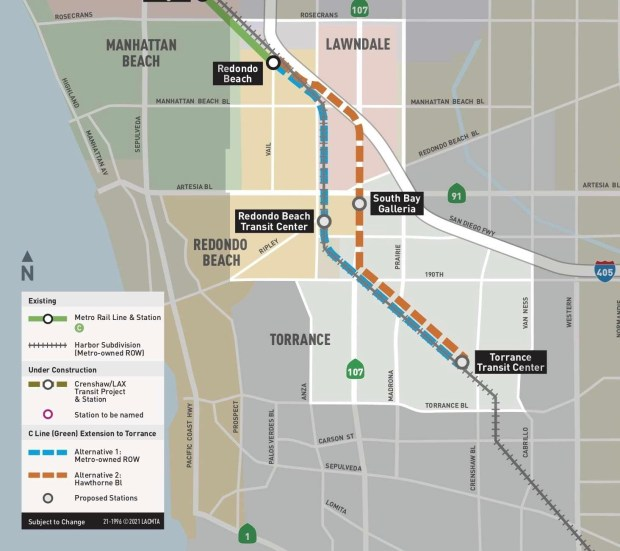 Metro rail line extension to Torrance tracking closer to possible 2028 opening