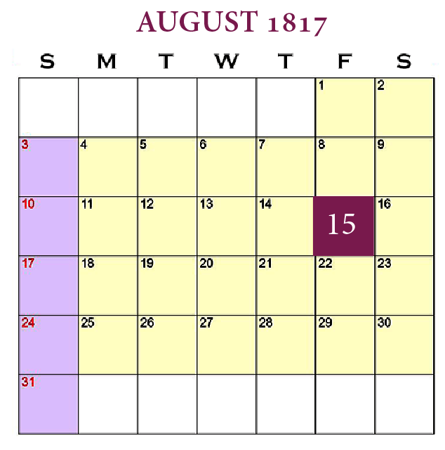 New Beginnings—Leadership and Support, August 15, 1817